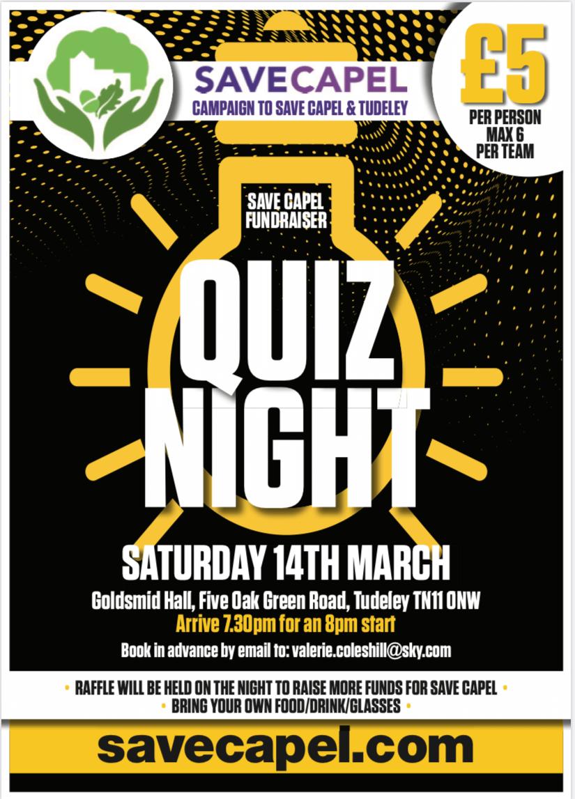 Quiz Night – 14 March 2020, Goldsmid Hall