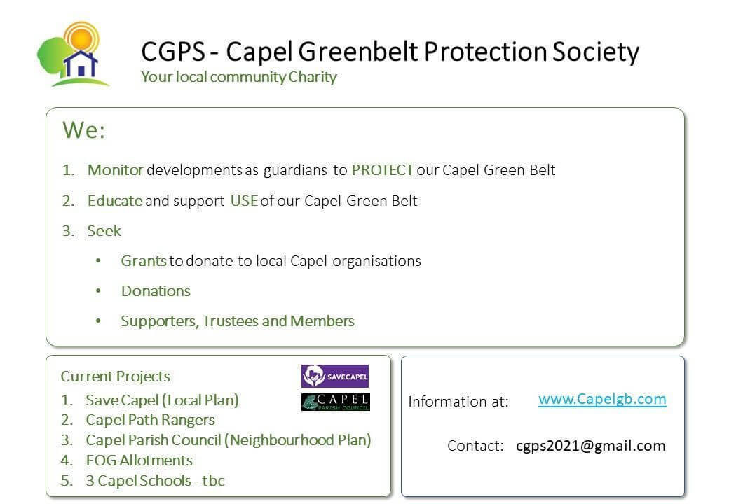 Capel Greenbelt Protection Society slide